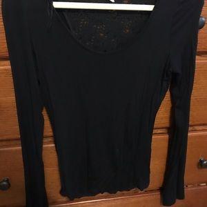 Women's Black Lace Top